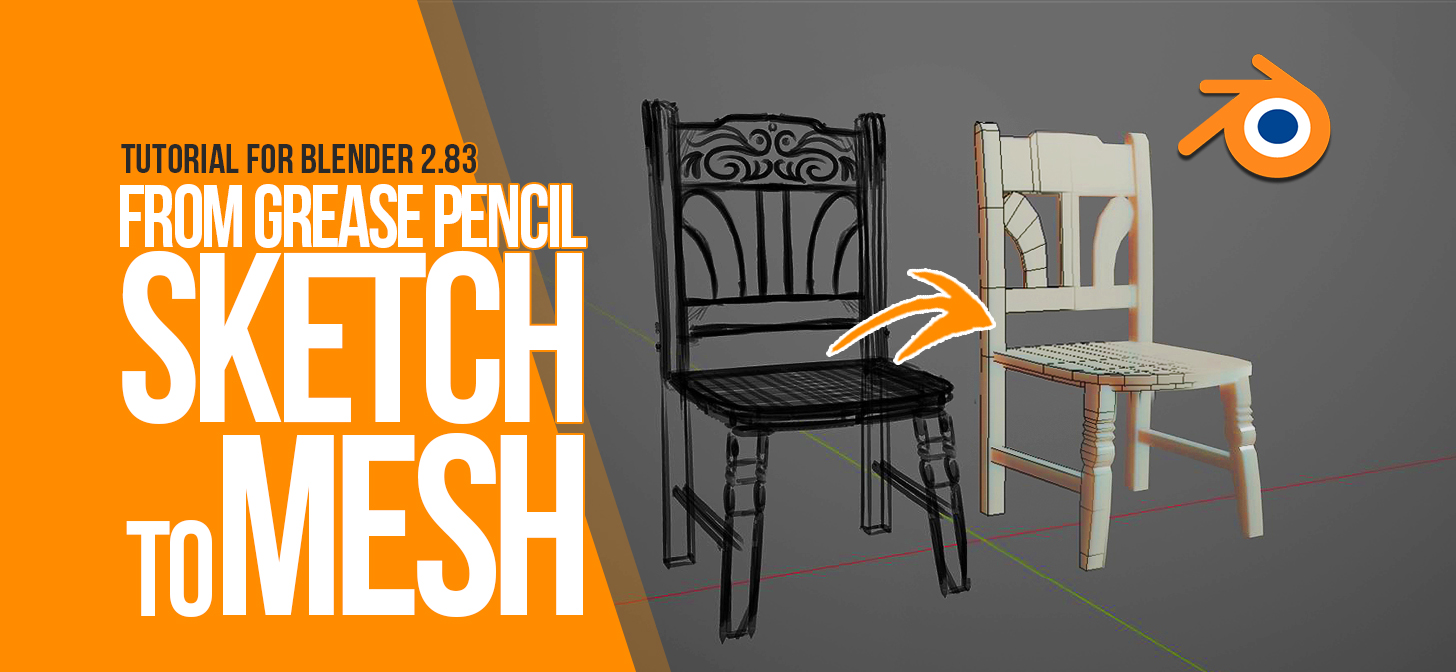how to transform your grease pencil sketch to a 3d mesh blender 2 83 tutorial blendernation