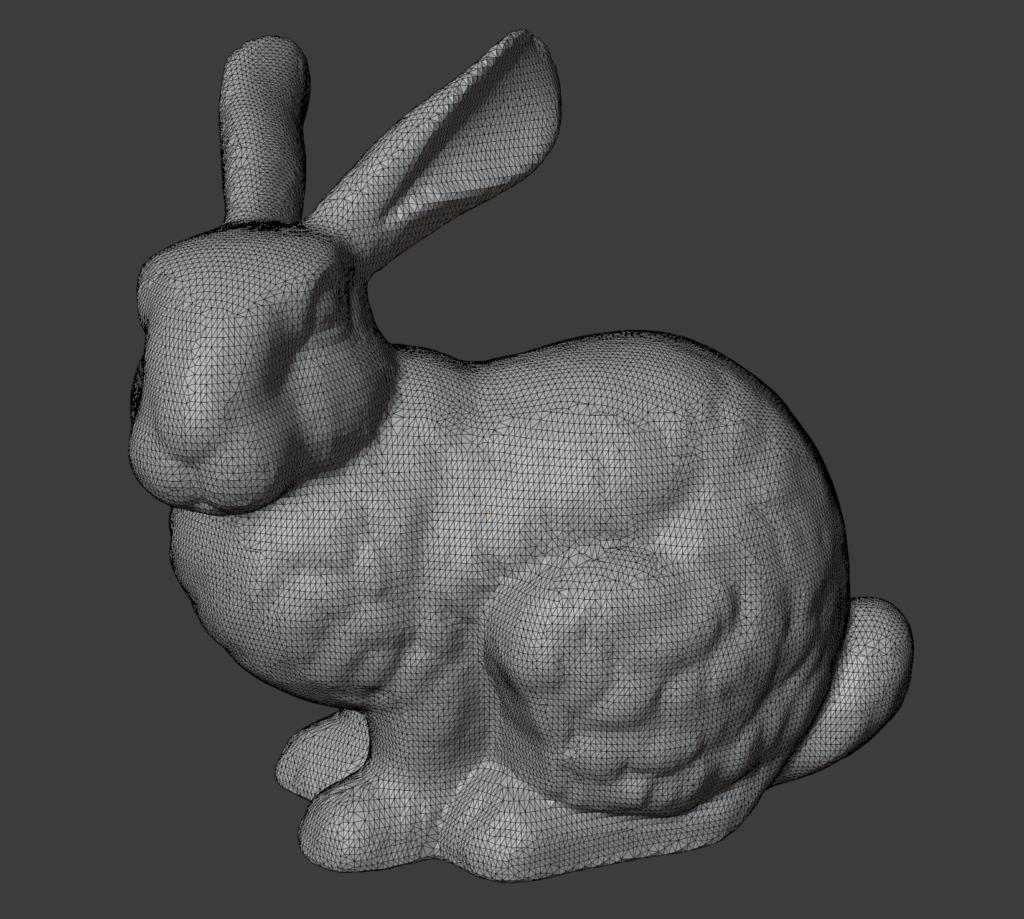 The original triangular Stanford bunny model