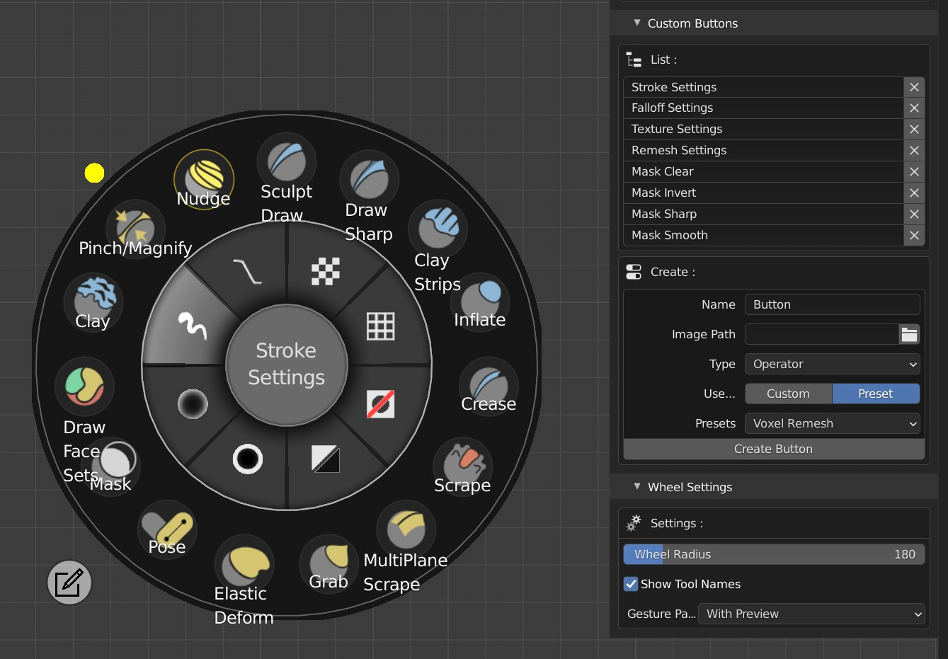 If you prefer to instantly see which icon represents which brush, simply activate 'Show Tool Names'