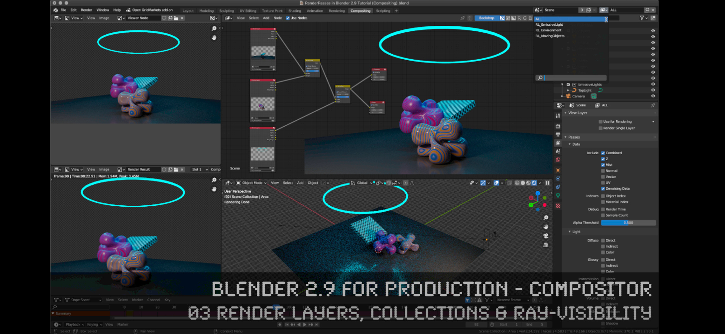 Tutorial] Blender 2.9 for Production - 03 RenderLayers, Collections &  Ray-Visibility - BlenderNation