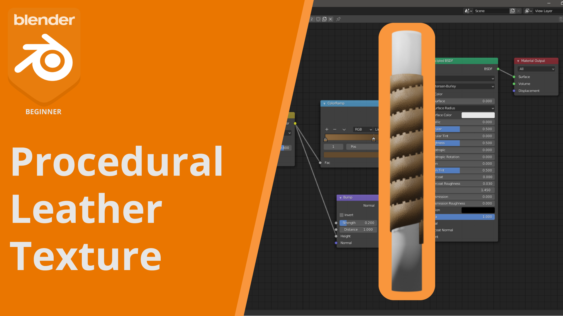 Procedural Leather Texture How To Use It On A Model Blender 2 9 Blendernation